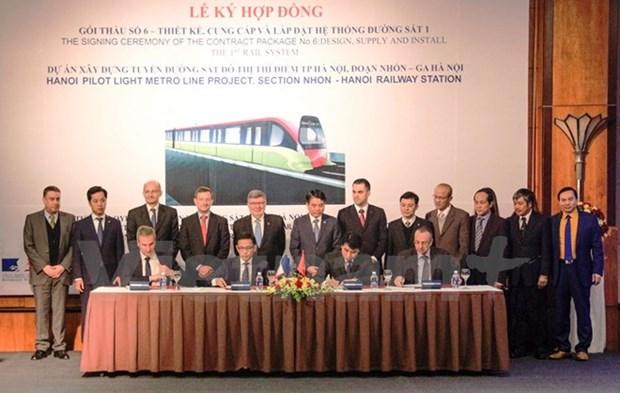 Une enveloppe de 319,5 millions d'euros pour le projet de ligne ferroviaire Nhon-gare de Hanoi hinh anh 1