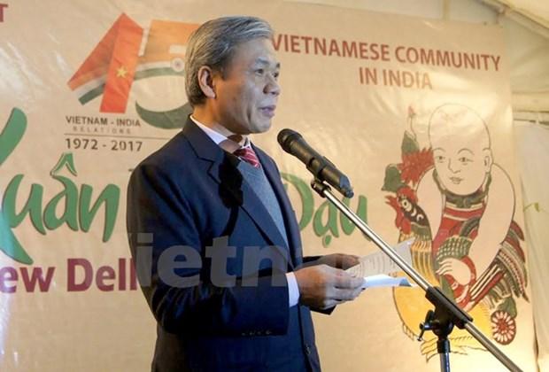 Celebration du 45e anniversaire de l'etablissement des relations diplomatiques Vietnam-Inde hinh anh 1
