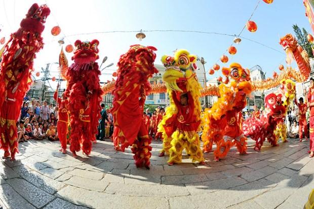 Can Tho : 4eme Festival national de danses de la licorne et du dragon hinh anh 1