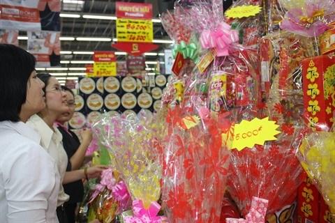 Les paniers cadeaux sont remplis a 90% de produits vietnamiens hinh anh 1