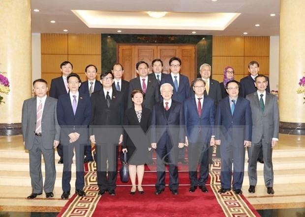 Le leader du Parti recoit les representants diplomatiques des membres de l'ASEAN hinh anh 1