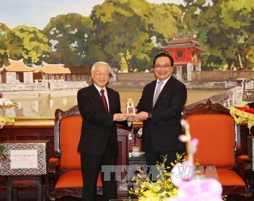 Le secretaire general Nguyen Phu Trong formule ses voeux du Tet a Hanoi hinh anh 1