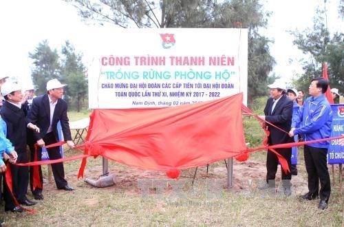 Le vice-PM Truong Hoa Binh a la Fete de la plantation d'arbres 2017 hinh anh 1