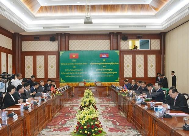 Vietnam et Cambodge renforcent la cooperation dans la garantie de la securite hinh anh 1