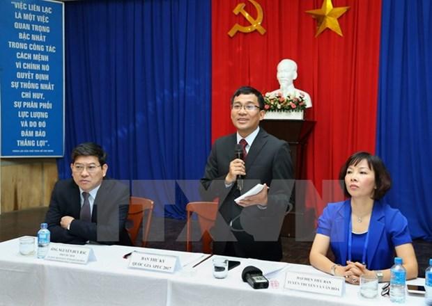 APEC : plus de 170 journalistes couvrent le SOM 1 et ses reunions connexes hinh anh 2