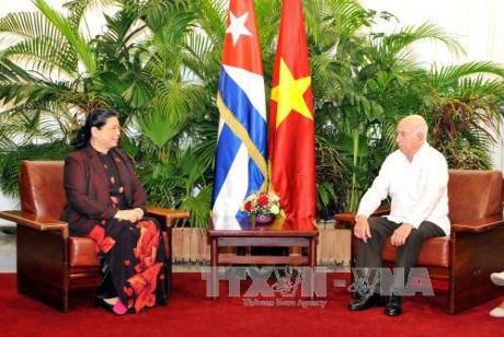 Activites de la vice-presidente permanente de l'AN du Vietnam a Cuba hinh anh 1