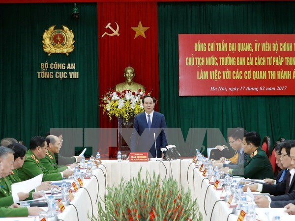 Le president Tran Dai Quang :