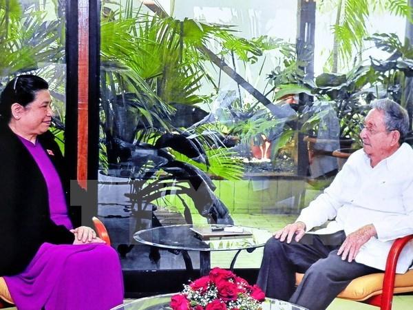 Le 1er secretaire du Parti communiste cubain recoit la vice-presidente de l'AN Tong Thi Phong hinh anh 1