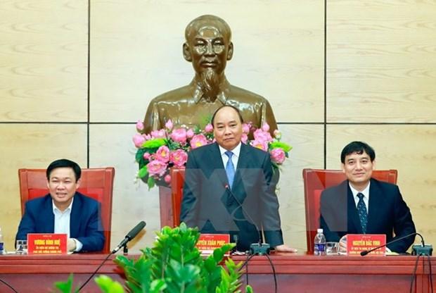 Le PM Nguyen Xuan Phuc exhorte Nghe An de faire de Vinh une ville moderne hinh anh 1