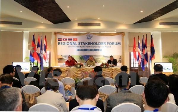 Ouverture du Forum des parties concernees sur le projet hydroelectrique Pak Beng hinh anh 1