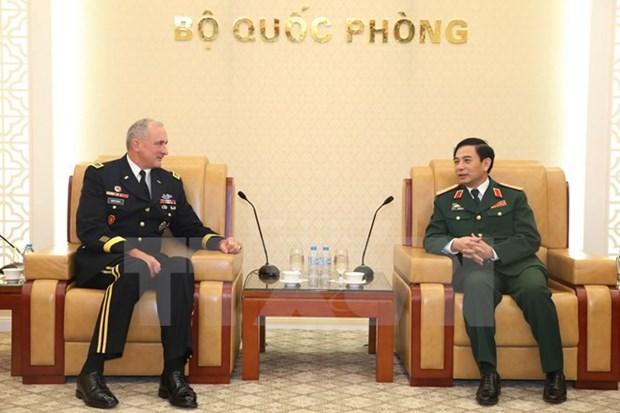 Le chef d'etat-major general recoit le commandant de l'U.S. Army Pacific hinh anh 1