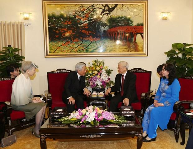 La visite de l'empereur japonais contribue a approfondir les relations Vietnam-Japon hinh anh 1