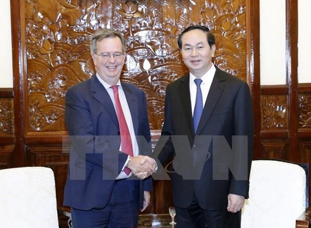 Le president Tran Dai Quang recoit l'ambassadeur d'Espagne hinh anh 1