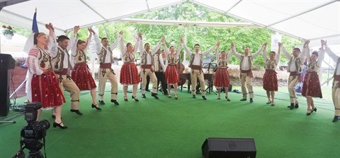 L'ensemble folklorique roumain Doina Oltului se produira au Vietnam hinh anh 1