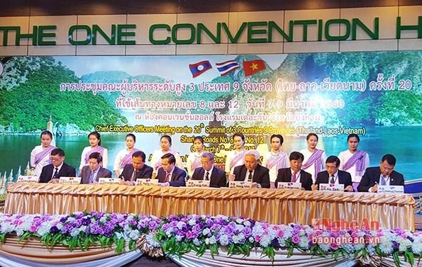Renforcer les liens entres les localites Vietnam-Laos-Thailande hinh anh 1