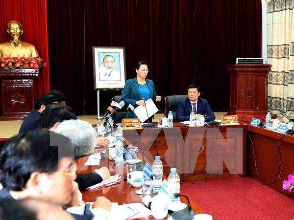 La presidente de l'AN en tournee dans la province de Lai Chau hinh anh 1