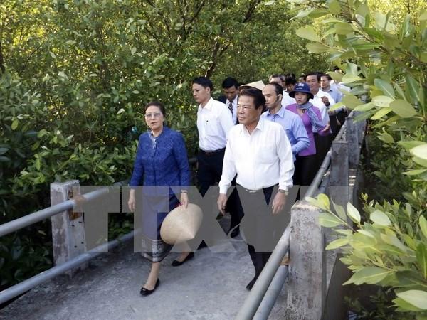 La presidente de l'AN laotienne Pany Yathotou termine sa visite au Vietnam hinh anh 1