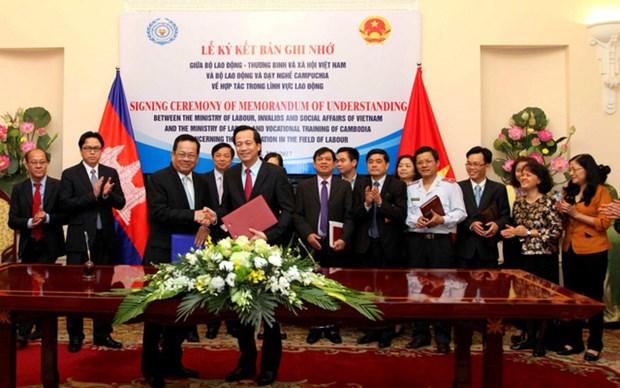 Vietnam et Cambodge intensifient la cooperation dans le travail hinh anh 1