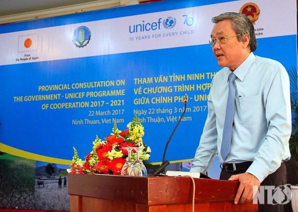 Ninh Thuan et l'UNICEF cooperent face aux changements climatiques hinh anh 1