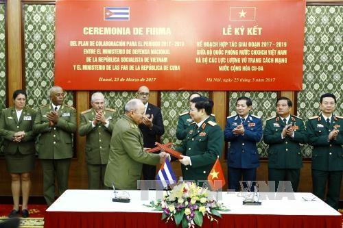 Le Vietnam et Cuba renforcent leur cooperation dans la defense hinh anh 1