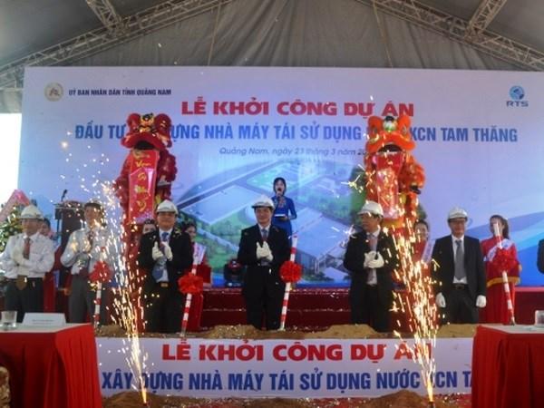 Quang Nam : une usine moderne de recyclage des eaux usees est mise en chantier hinh anh 1