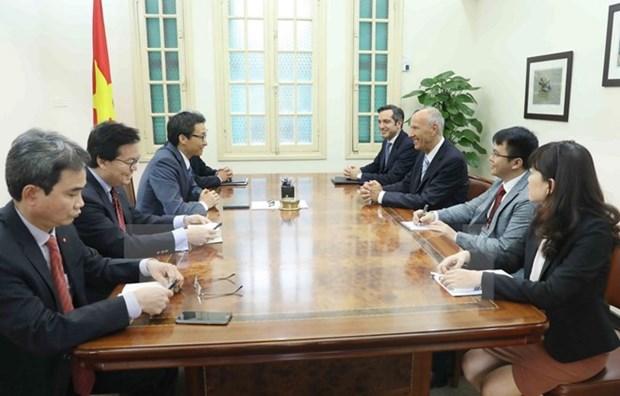 Le vice-Premier ministre Vu Duc Dam recoit le directeur general de l'OMPI hinh anh 1
