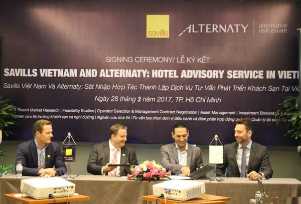 Fusion entre Savills Vietnam et Alternaty pour developper l'industrie hoteliere hinh anh 1