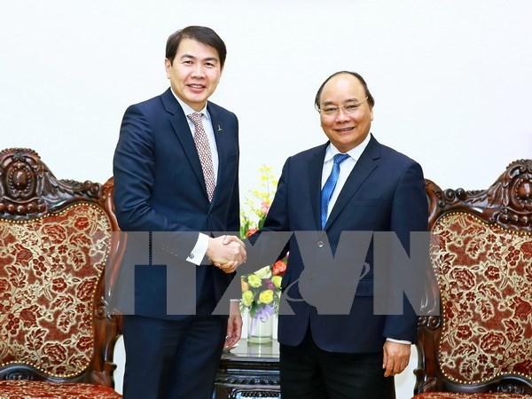 Le PM recoit le president du groupe singapourien CapitaLand hinh anh 1