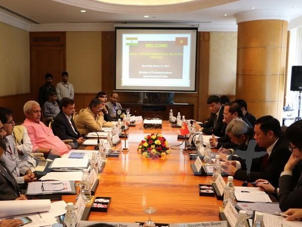 Vietnam et Inde boostent leur cooperation dans les postes et telecommunications hinh anh 1