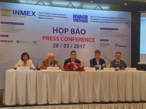 Plus de 300 entreprises a l'exposition sur l'industrie maritime (INMEX) hinh anh 1
