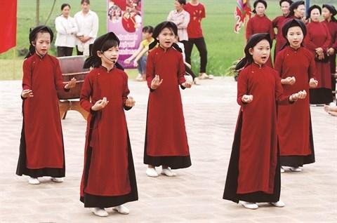 Le chant Xoan s'expose a Phu Tho hinh anh 1