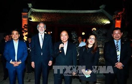 Nguyen Xuan Phuc rencontre des chefs de grandes multinaltionales hinh anh 1