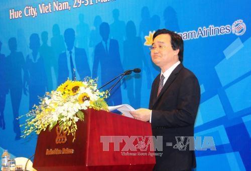 Cloture de la conference de l'ASEM sur l'education a Hue hinh anh 1
