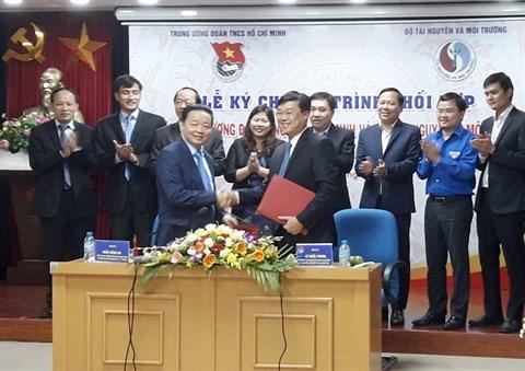 Signature d'un accord de cooperation sur la protection de l'environnement hinh anh 1