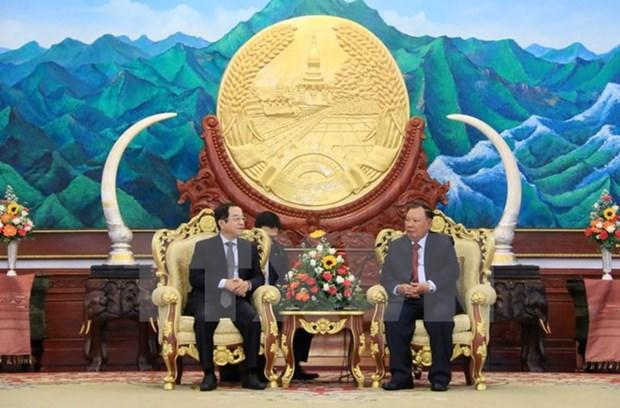 Le leader du PRPL plaide pour les relations speciales Vietnam-Laos hinh anh 1