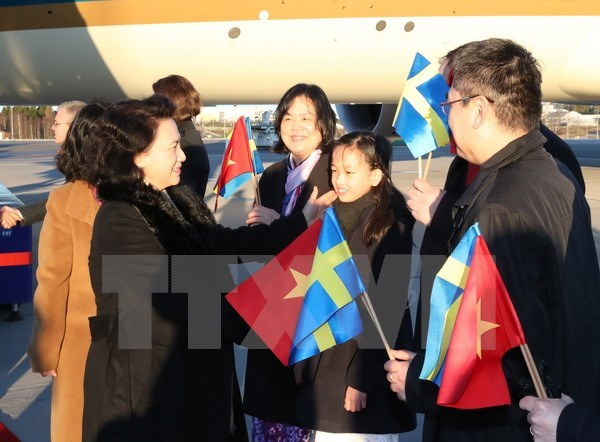 La presidente de l'AN Nguyen Thi Kim Ngan commence sa visite officielle en Suede hinh anh 1