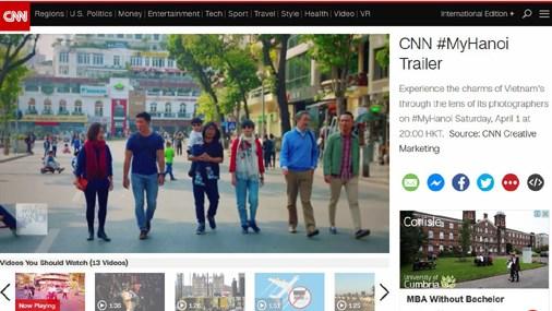 Hanoi a l'honneur sur CNN hinh anh 1