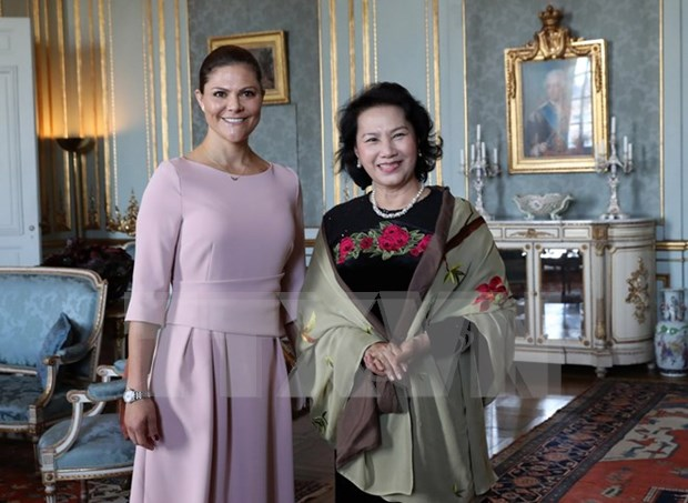 La presidente de l'AN Nguyen Thi Kim Ngan poursuit ses activites en Suede hinh anh 1