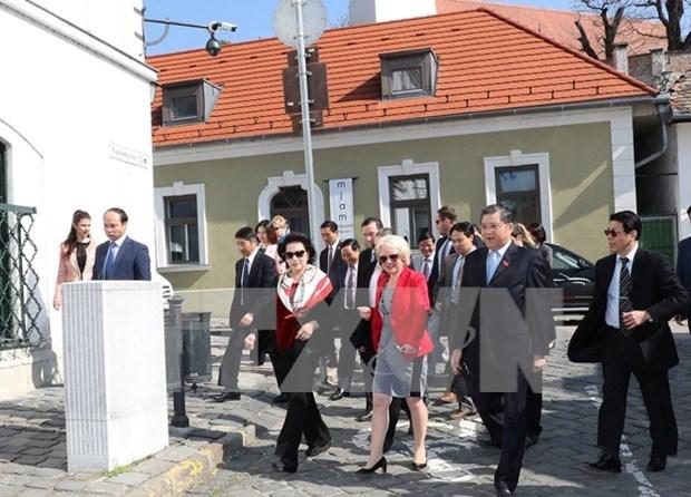 La presidente de l'Assemblee nationale visite la ville hongroise de Szentendre hinh anh 1