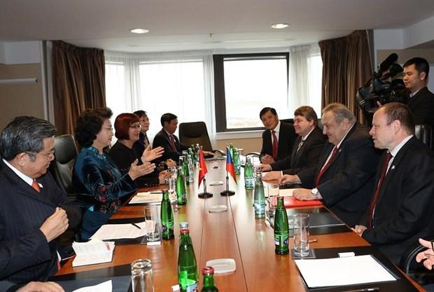 Nguyen Thi Kim Ngan rencontre le president de l'Association R.tcheque – Vietnam hinh anh 1