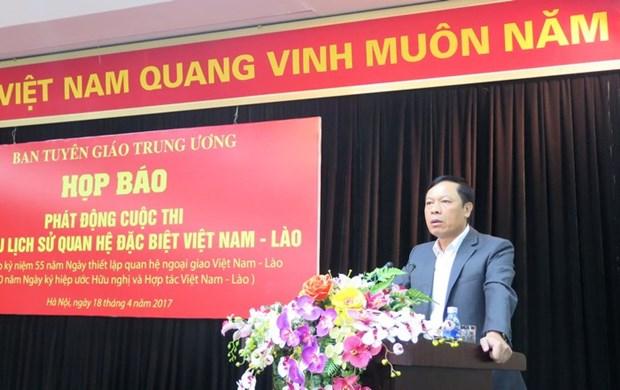 Lancement du concours d'etude sur l'histoire des relations Vietnam-Laos hinh anh 1