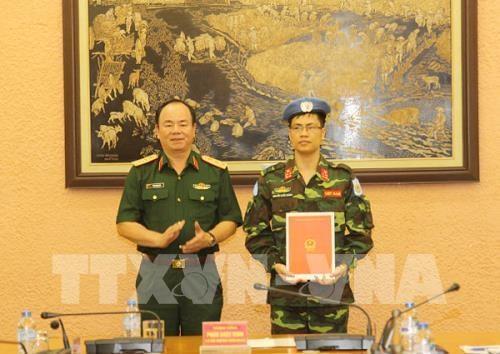 Un soldat vietnamien supplementaire aux operations de maintien de la paix de l'ONU hinh anh 1