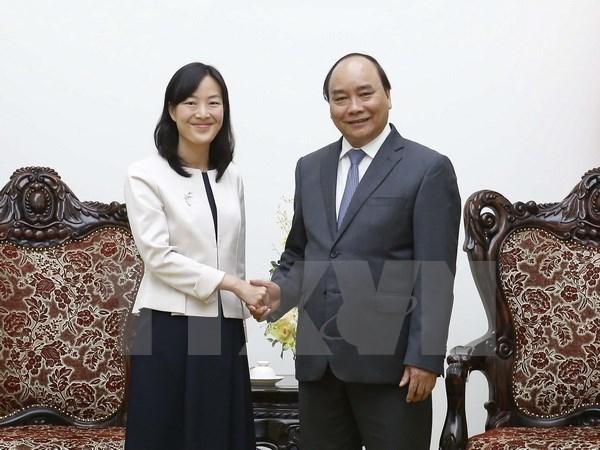 Le Premier ministre recoit la directrice generale du groupe taiwanais Pou Chen hinh anh 1