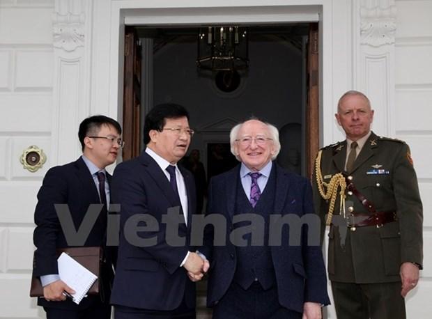 Le vice-Premier ministre Trinh Dinh Dung termine sa visite officielle en Irlande hinh anh 1