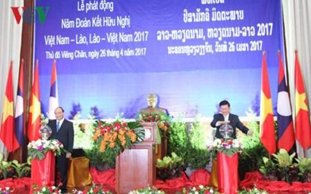Lancement de l'Annee de solidarite et d'amitie Vietnam-Laos, Laos-Vietnam 2017 hinh anh 1