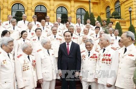 Tran Dai Quang rencontre d'anciens policiers envoyes au Sud pendant la guerre hinh anh 1