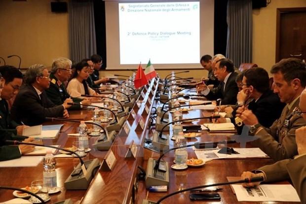 Deuxieme dialogue sur la politique de defense Vietnam-Italie hinh anh 1