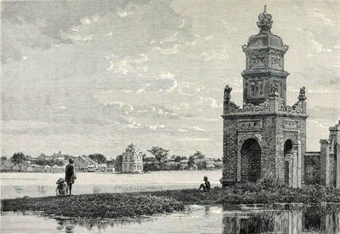 Les ruines de l'ancienne tour Hoa Phong a Hanoi hinh anh 2