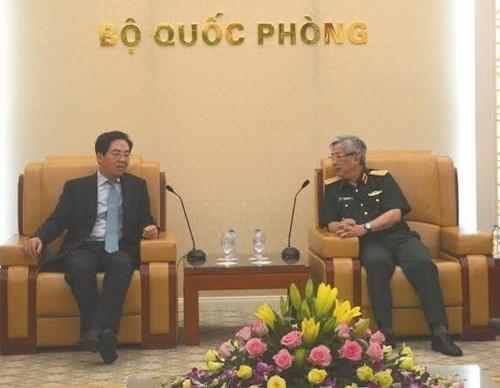 Le general Nguyen Chi Vinh recoit l'ambassadeur de Chine hinh anh 1