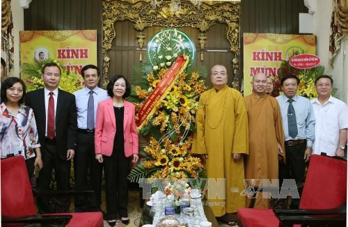 Anniversaire du Bouddha : des dirigeants vietnamiens formulent leurs vœux aux bouddhistes hinh anh 1